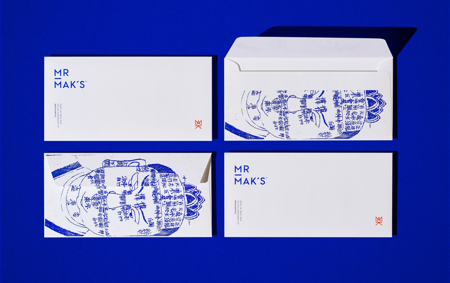 Mr. Mak's envelope design by Werner Design Werks