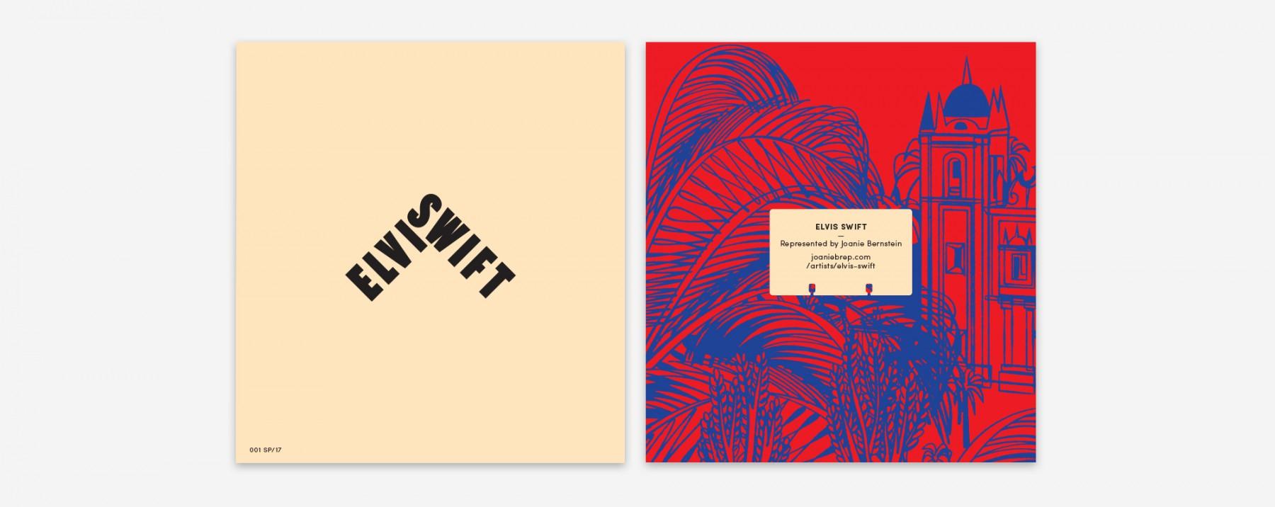 Elvis Swift artist promotion designed by Werner Design Werks