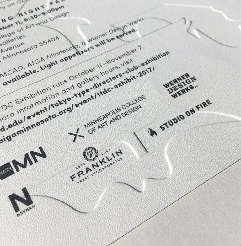 Tokyo TDC postcard invitation by Werner Design Werks